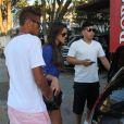 Neymar e Bruna Marquezine são flagrados em restaurante da Barra da Tijuca, no Rio, em 10 de março de 2013