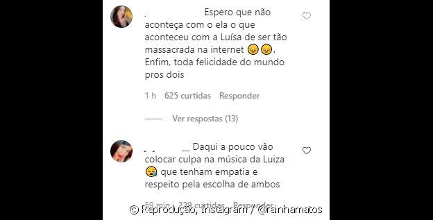 Internautas acreditam que fãs vão começar a culpar Luísa Sonza pelo término de Whindersson