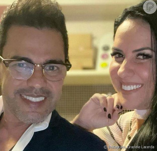 Graciele Lacerda deu susto no noivo, Zezé Di Camargo, em seu aniversário de 59 anos