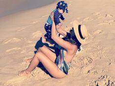 Filho de Sthefany Brito curte praia com atriz e surpreende por tamanho em fotos