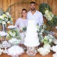 Viviane Araujo e Guilherme Militão estão juntos desde 2019 e se casaram no civil em 2021