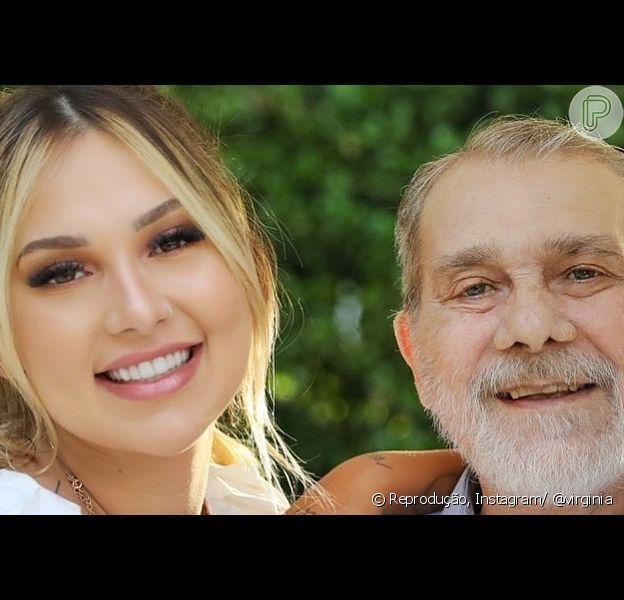 Virginia lamenta a morte do pai nas redes sociais