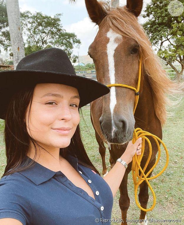 Larissa Manoela sofreu um acidente a cavalo há seis anos