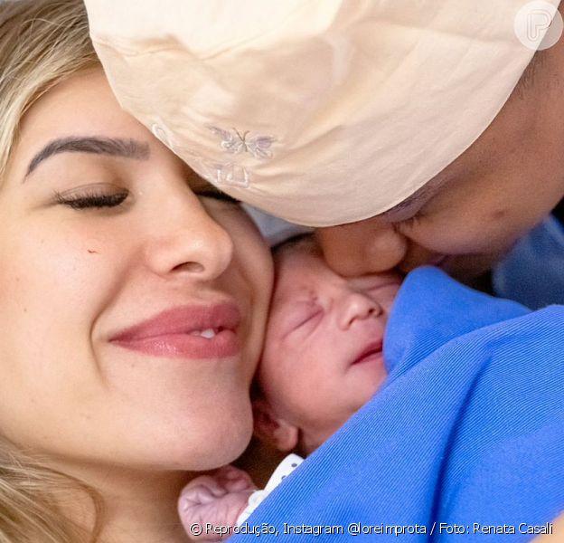 Lorena Improta mostrou as primeiras fotos de Liz, sua filha com Léo Santana