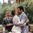Carol Celico e Eduardo Scarpa casaram pela segunda vez no sábado (25) após cerimônia religiosa intimista no início do mês