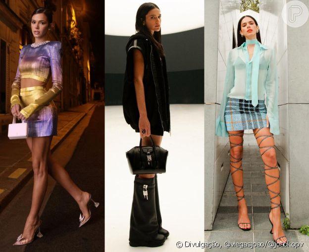 Looks de Bruna Marquezine eram estilosos da cabeça aos pés
