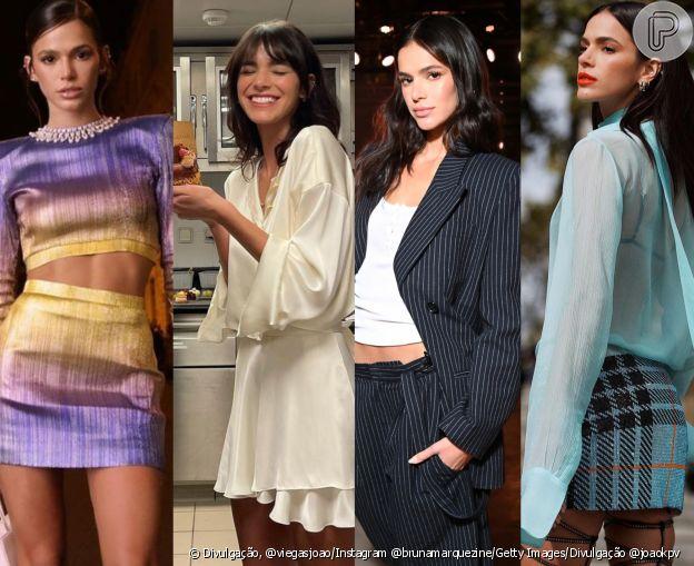 Atriz Bruna Marquezine escolhe looks de diferentes estilos em Paris
