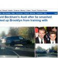 David Beckham destruiu seu automóvel avaliado em quase R$ 560 milhões