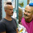 Em novembro,  Paulinho Vilhena pintou os cabelos de azul para viver a nova fase do personagem Salvador na novela 'Império'