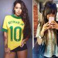 No mês de setembro, Rafaella Santos apostou nos fios loiros e na franja
