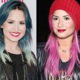 Foi só o novo ano entrar para Demi Lovato começar as mudanças no visual. No início de janeiro a cantora pintou as pontas dos cabelos de rosa