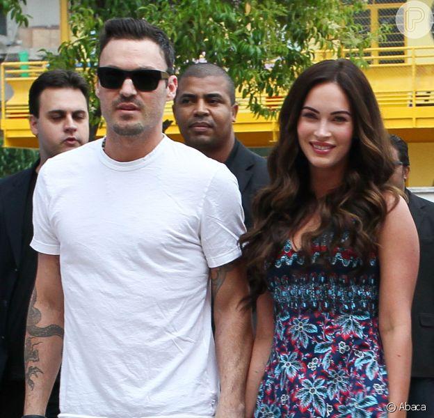 Megan Fox e o marido sofrem acidente de carro em Los Angeles, nos EUA