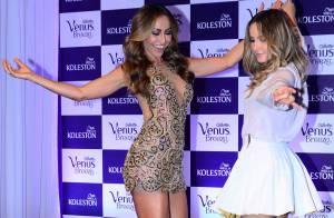 Ivete Sangalo, Claudia Leitte e Sabrina Sato exibem belas pernas em evento em SP