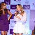 Ivete Sangalo e Claudia Leitte participam do evento da Koleston & Gillette Venus, na quarta-feira, 10 de dezembro de 2014, nos estúdios Quanta, em São Paulo