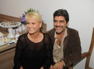Xuxa leva o namorado, Junno Andrade, à inauguração de sua quinta casa de festas
