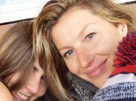Gisele Bündchen publica selfie sem maquiagem ao assistir jogo do marido
