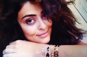 Juliana Paes posta foto sem maquiagem e exibe tatuagens temporárias: 'Amei'