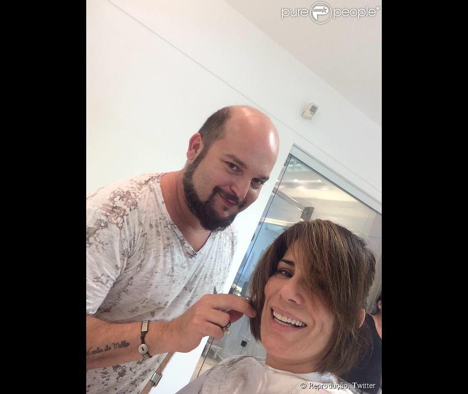 Gloria Pires recota corte de cabelo para personagem da novela 'Babilônia', em 7 de janeiro de 2015