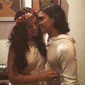 André Gonçalves tatua rosto da mulher, Bianca Chami, no braço: 'Amo muito'