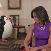 Michelle Obama conversa com Capitão em vídeo de 'Os Pinguins de Madagascar'
