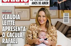 Claudia Leitte mostra em revista o filho caçula, Rafael, pela primeira vez