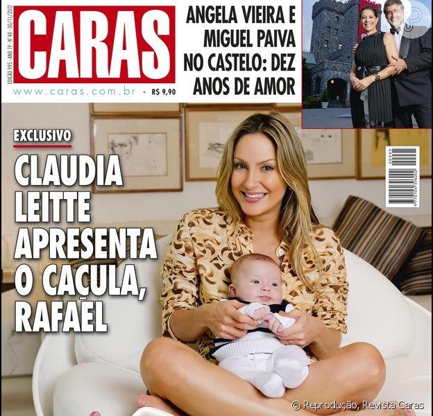 Claudia Leitte com o caçula Rafael na capa da revista 'Caras' da última semana de novembro de 2012