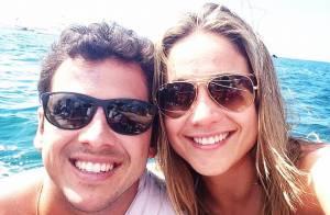 Marido de Fernanda Gentil antecipa time do bebê que ela espera: 'Vasco'
