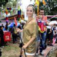 Mônica Carvalho também prestigiou o bloco