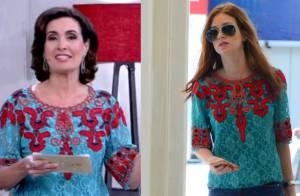 Fátima Bernardes e Marina Ruy Barbosa usam a mesma camisa no valor de R$ 1.600