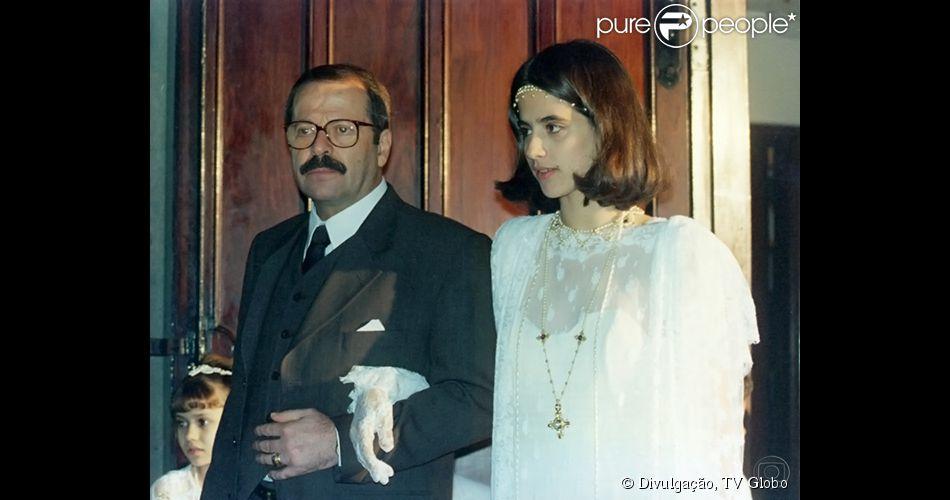 Em 'O Rei do Gado', Mariana Lima interpretava a personagem Liliana, filha do senador Caixas (Carlos Vereza)