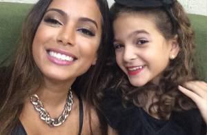 Anitta recebe Mel Maia em baile infantil de Carnaval, no Rio: 'Bom te encontrar'