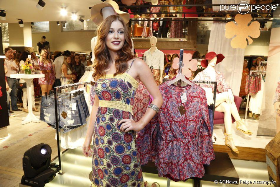 Marina Ruy Barbosa lança sua linha de roupas em loja popular no Rio de Janeiro