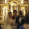 O casamento de Fernanda Souza e Thiaguinho foi celebrado pelo padre Reginaldo Manzotti