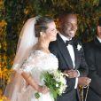 O casamento de Fernanda Souza e Thiaguinho foi celebrado na Igreja Nossa Senhora do Brasil
