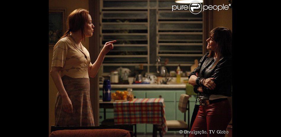 Márcia (Christiana Guinle), a empregada paga por Susana (Alessandra Negrini) para fazer a troca de bebês, reaparece no julgamento da megera, em 'Boogie Oogie', em 04 de março de 2015