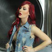 Josie Pêssoa posa sensual e com parte dos seios à mostra para campanha de moda