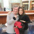 Patricia Abravanel encontrou Serginho Groisman durante férias nos EUA