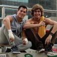Dupla de sucesso em 'Malhação': o aniversariante Arthur Aguiar com seu colega de elenco Rafael Vitti. Na trama eles interpretam Duca e Pedro