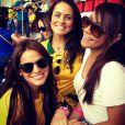 Bruna Marquezine e Rafaella curtiram juntas a Copa do Mundo no Brasil, em 2014