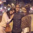 Bruna Marquezine e Rafaella com Neymar em Barcelona, na época em que a atriz e o jogador ainda namoravam