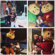 Guy, filho de Danielle Winits e Jonatas Faro, ganha festa com os personagens de 'Alvin e os esquilos'