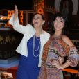 Denise Del Vecchio e Samara Felippo se divertem na coletiva da novela 'Os Dez Mandamentos'
