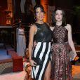 Giselle Itié e Larissa Maciel na coletiva de imprensa da novela 'Os Dez Mandamentos'