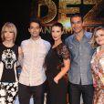 Babi Xavier, Guilherme Winter, Camila Rodrigues, Sergio Marone e Nanda Ziegler na coletiva de imprensa da novela 'Os Dez Mandamentos'