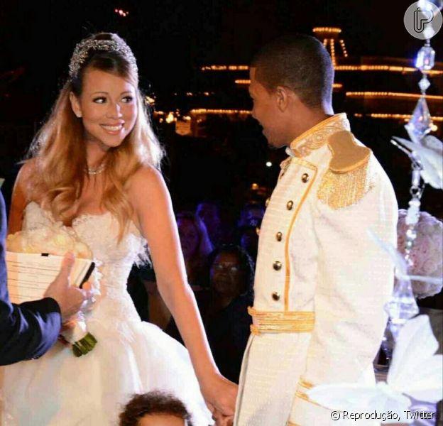 Mariah Carey e Nick Cannon renovaram os votos do casamento de cinco anos e comemoraram o aniversário de dois anos dos filhos gêmeos na noite desta terça-feira, 30 de abril de 2013