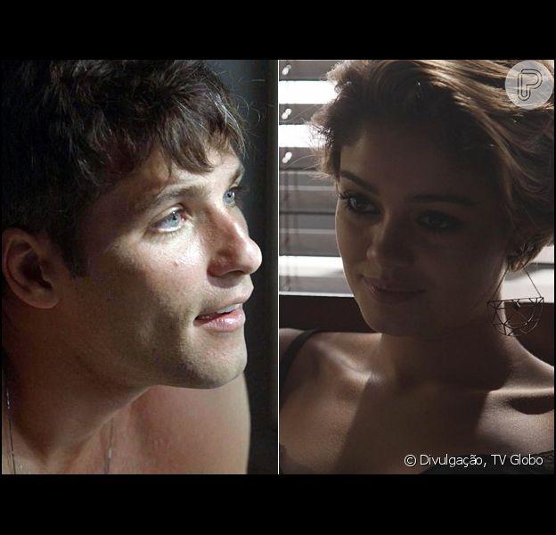 Alice (Sophie Charlotte) se irrita quando Murilo (Bruno Gagliasso) lhe mostra um vídeo da transa dos dois, na novela 'Babilônia', em março de 2015
