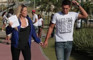 Danielle Winits grava cena de morte em 'Malhação' com o namorado, Amaury Nunes