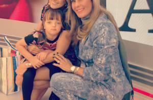 Ticiane Pinheiro recebe homenagem da filha, Rafa Justus, e da mãe, Helô, na TV
