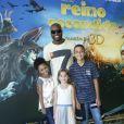 Rafael Zulu foi acompanhado da filha e de sobrinhos ao cinema