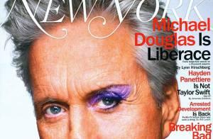 Michael Douglas posa maquiado e fala sobre beijo gay em Matt Damon